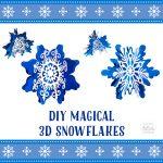 DIY 3D Paper Snowflakes