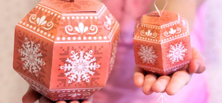DIY Christmas ornament gift boxes