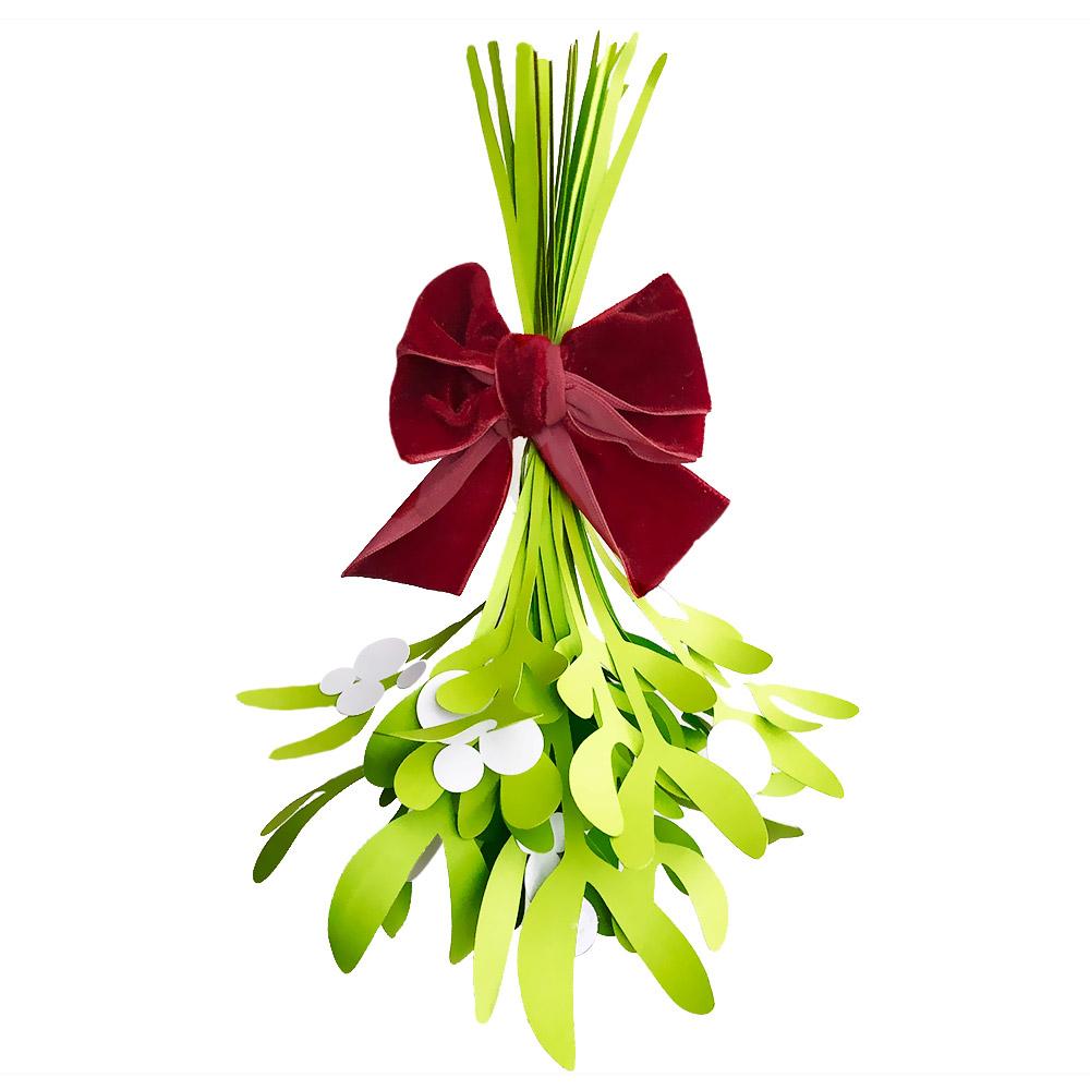 DIY Paper Mistletoe
