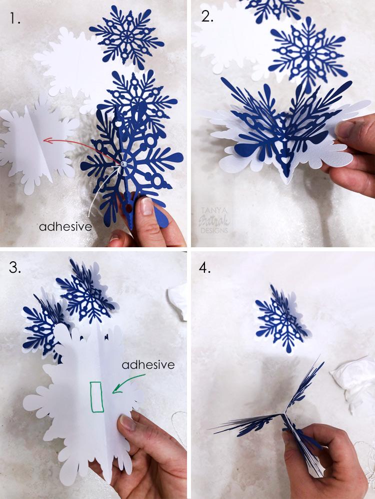 DIY D Paper Snowflakes