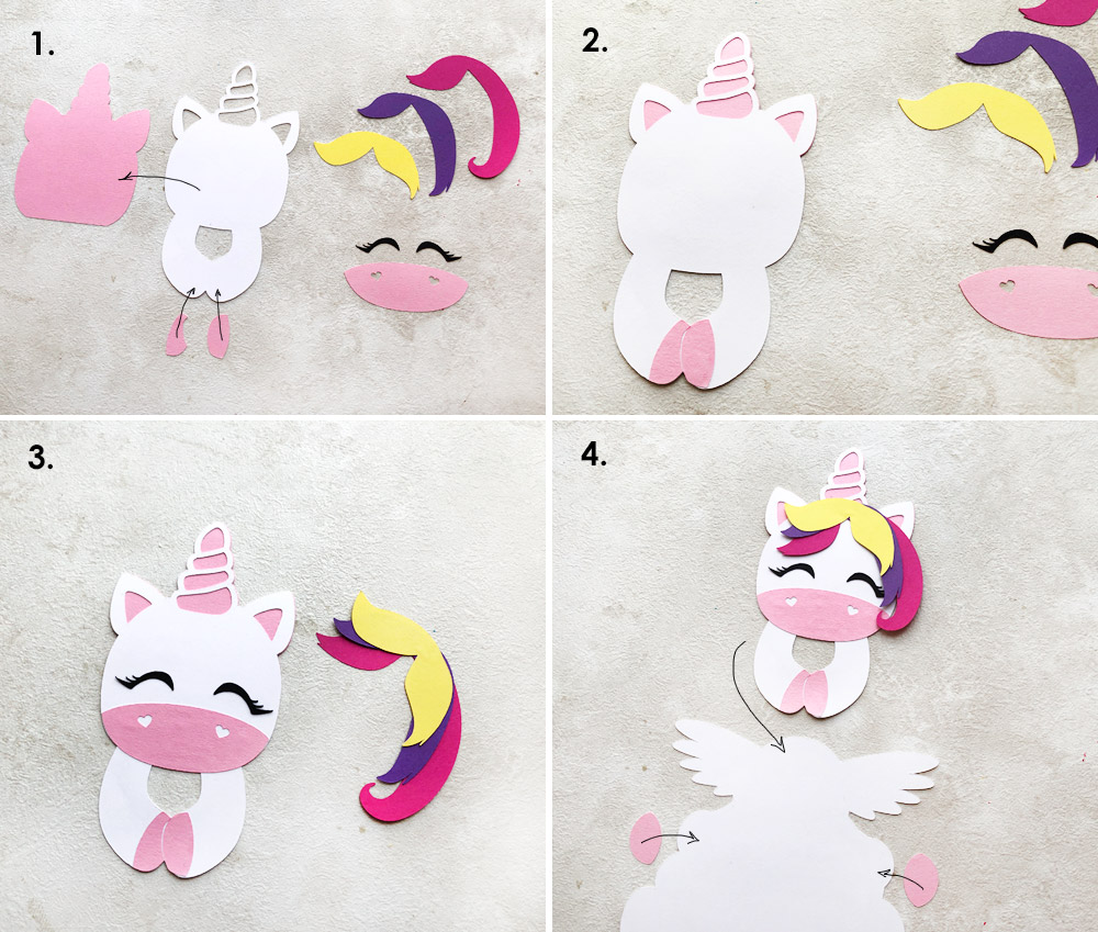 DIY D Paper Unicorn Decoration