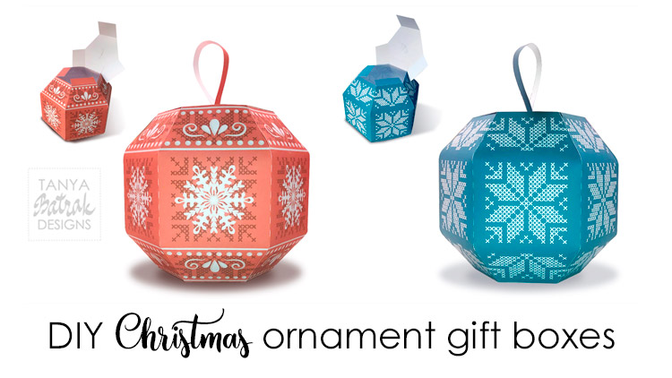 DIY Christmas ornament gift boxes