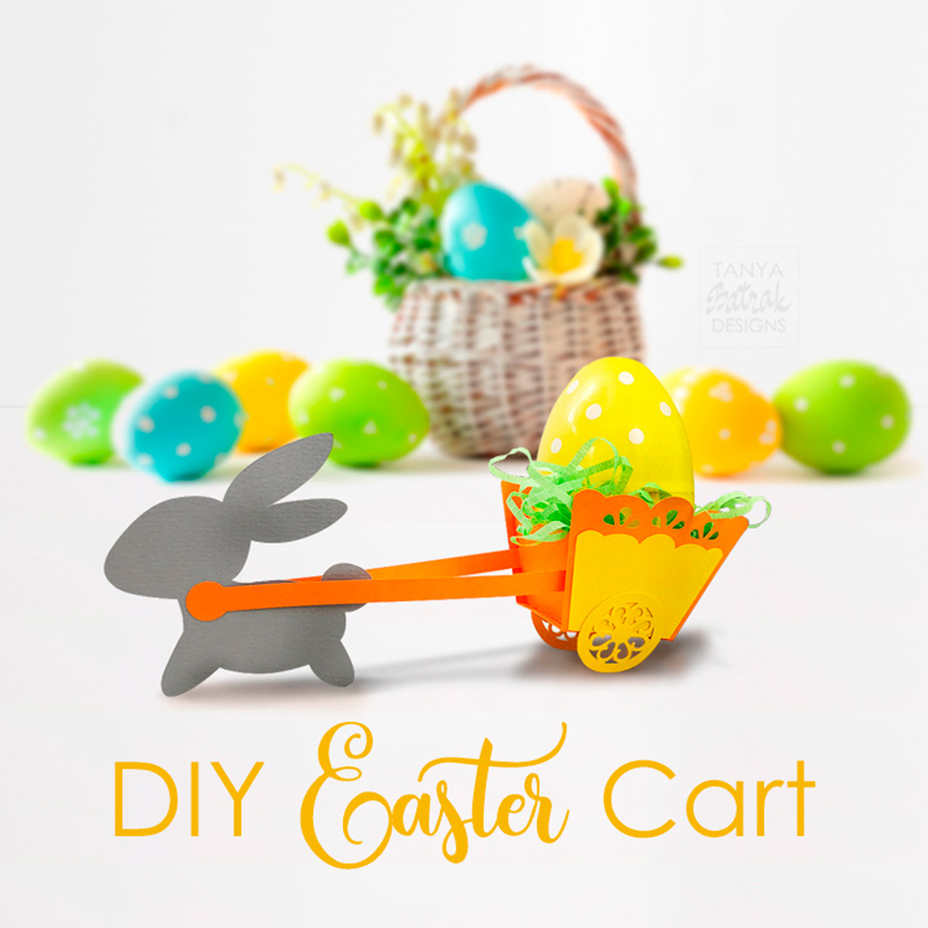 DIY Easter Bunny with a Cart