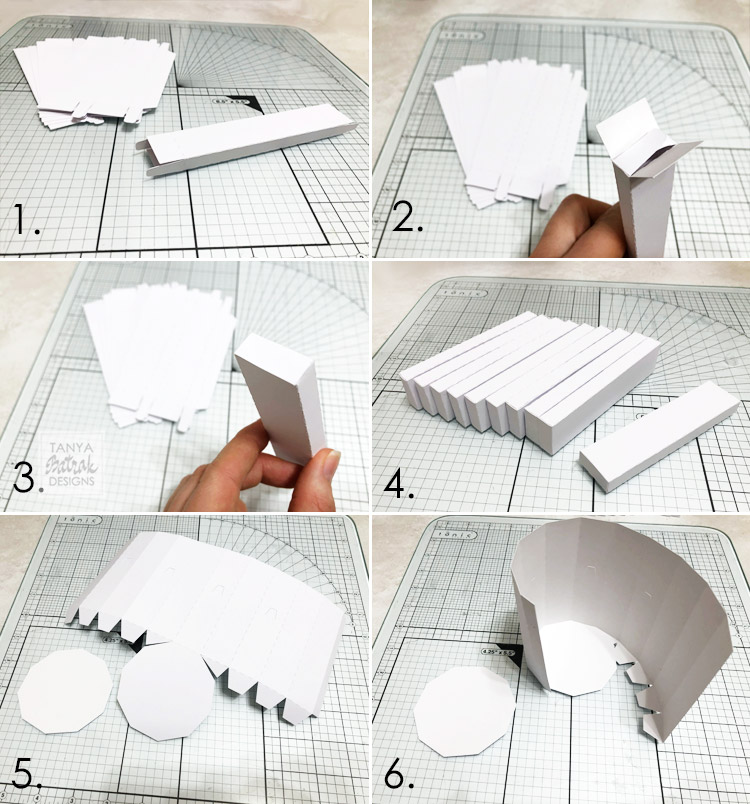 DIY paper piano box with D rose