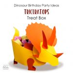 Dinosaur Birthday Party Ideas - Triceratops Treat Box