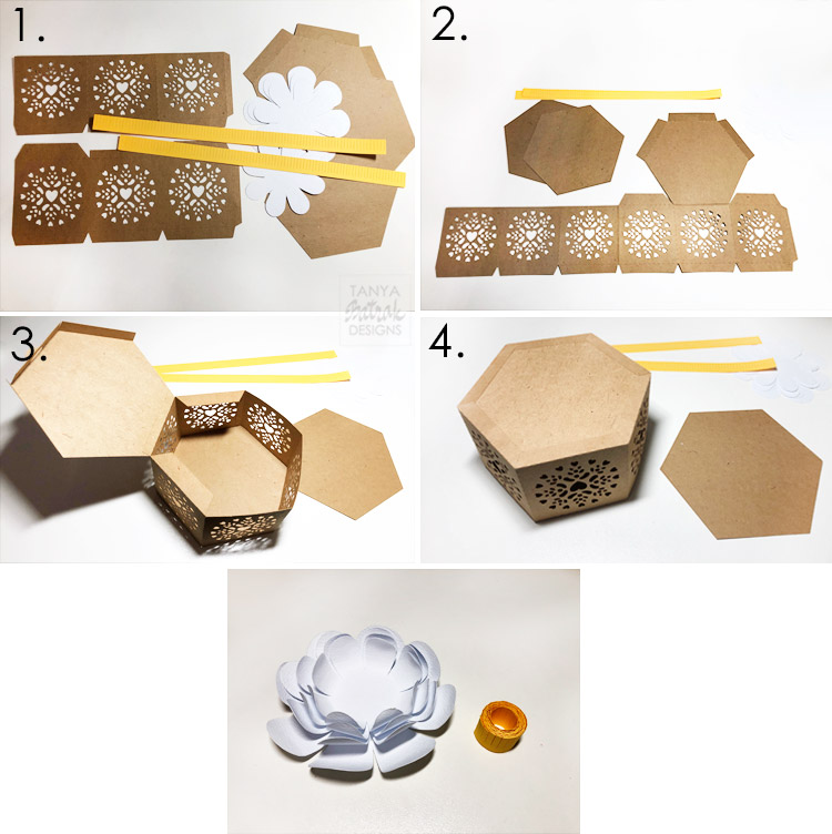 Gift box with 3D flower 79353