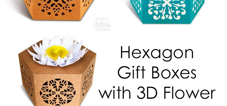 Gift Boxes with 3D Flower