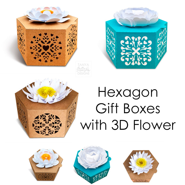 Gift box with 3D flower 82155