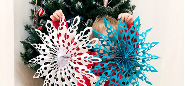How to Make a Giant Paper Snowflakes