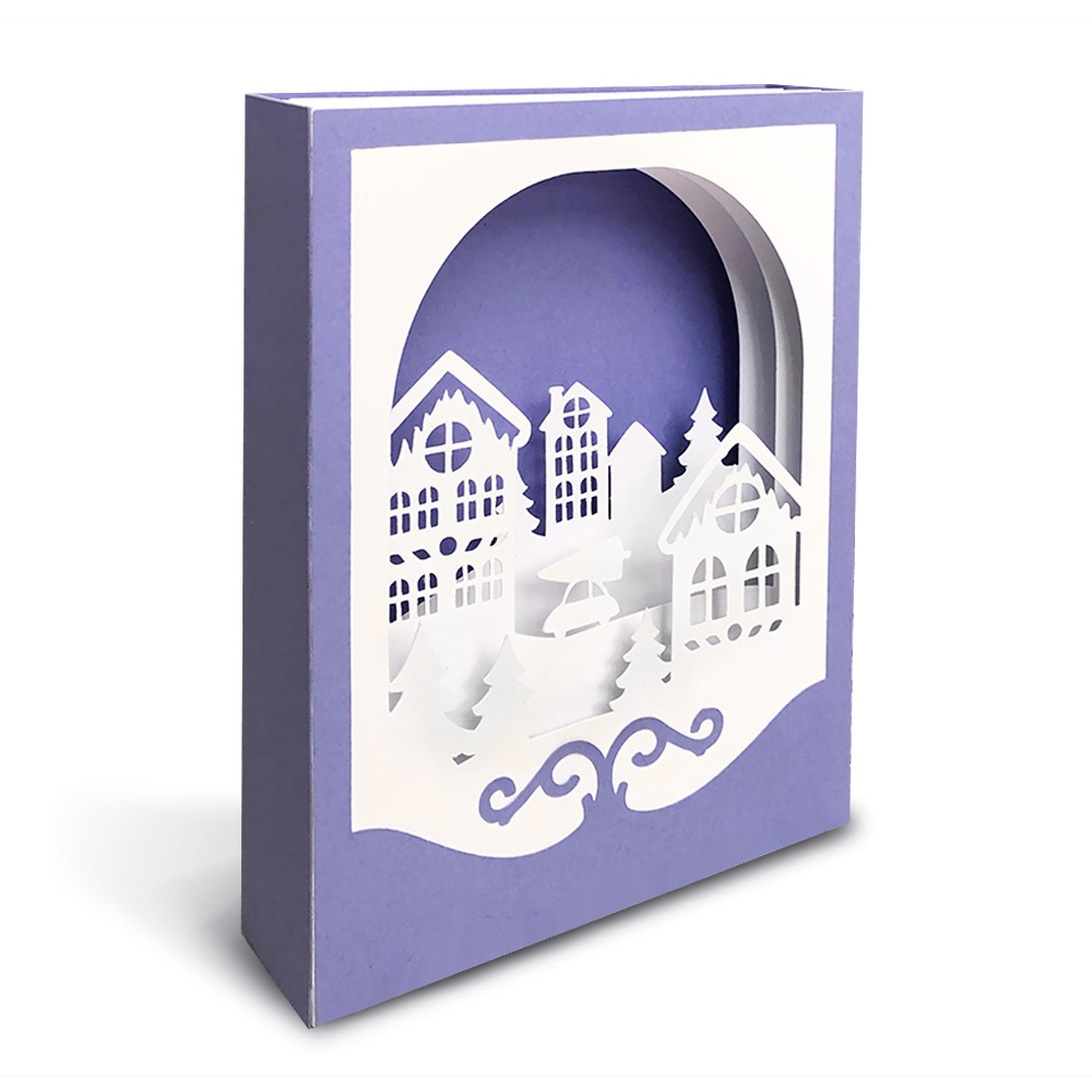 How to make a Christmas shadow box card