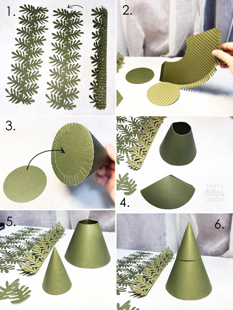How to make paper pine tree