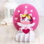 DIY 3D Paper Unicorn Decoration