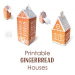 Printable Gingerbread Houses