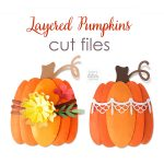 Autumn Layered Paper Pumpkins SVG