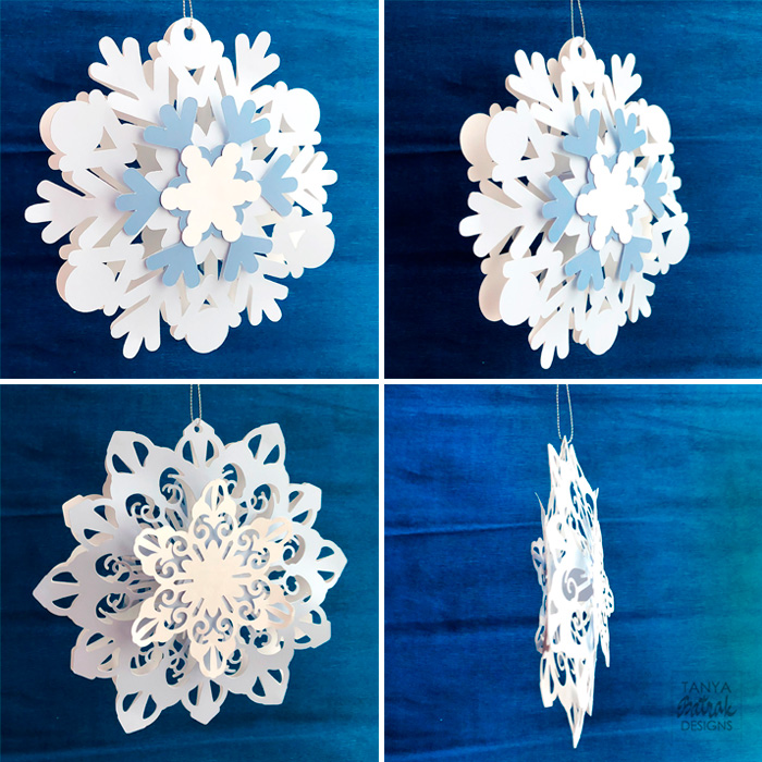 DIY Big D Snowflakes