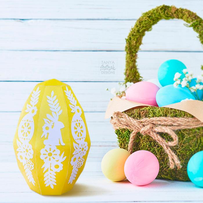 DIY Big Paper Easter Egg Box