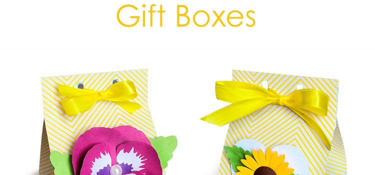 DIY Milk Carton Gift Box with 3D Flowers