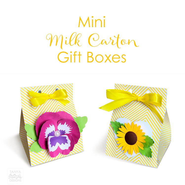 DIY Milk Carton Gift Box with D Flowers