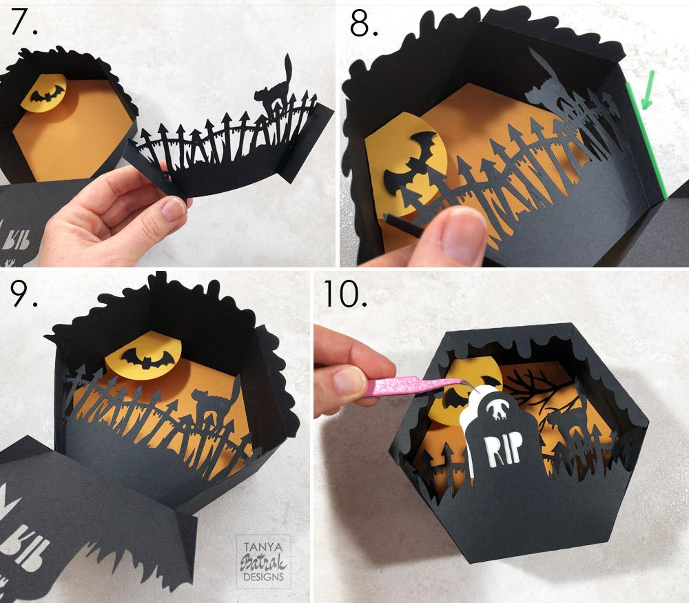 DIY Spooky Halloween Shadow Boxes