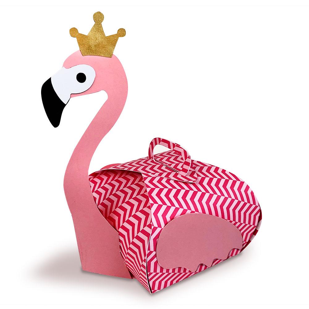 Flamingo Gift Box Cut File