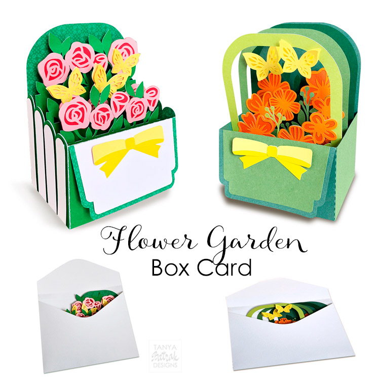 Flower Garden Box Card