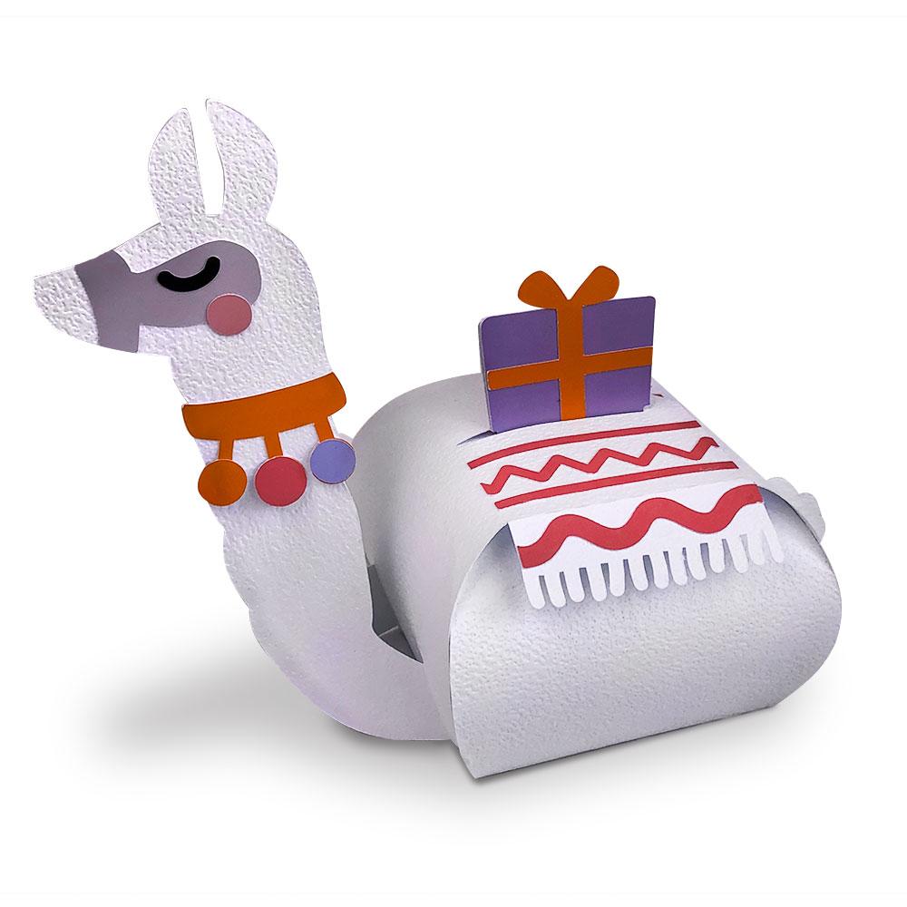 Llama Gift Box Cut File