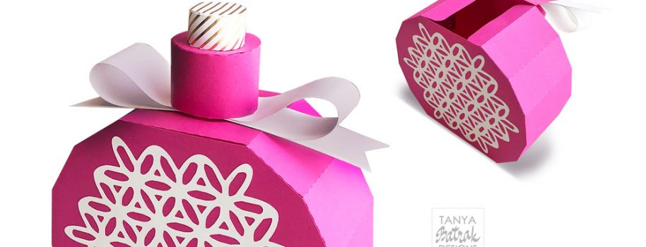 Perfume Bottle Gift Box SVG