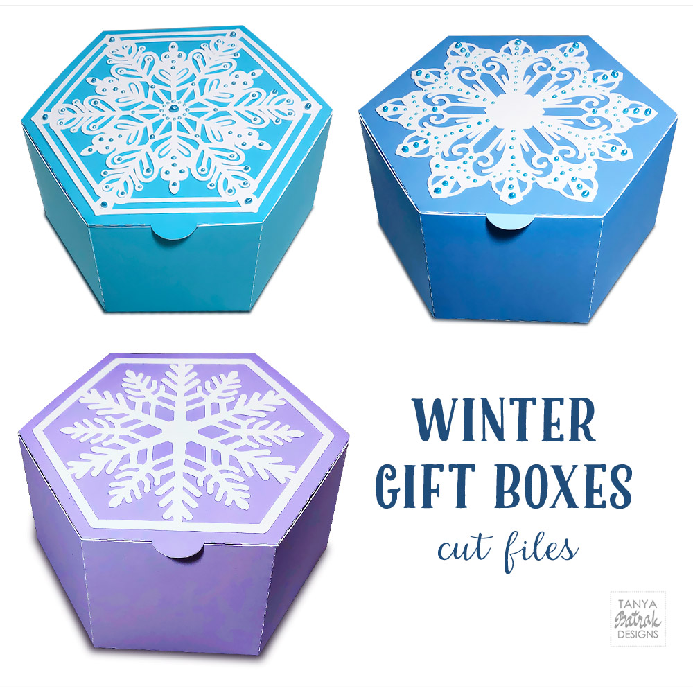 Snowflake Gift Boxes Cut Files
