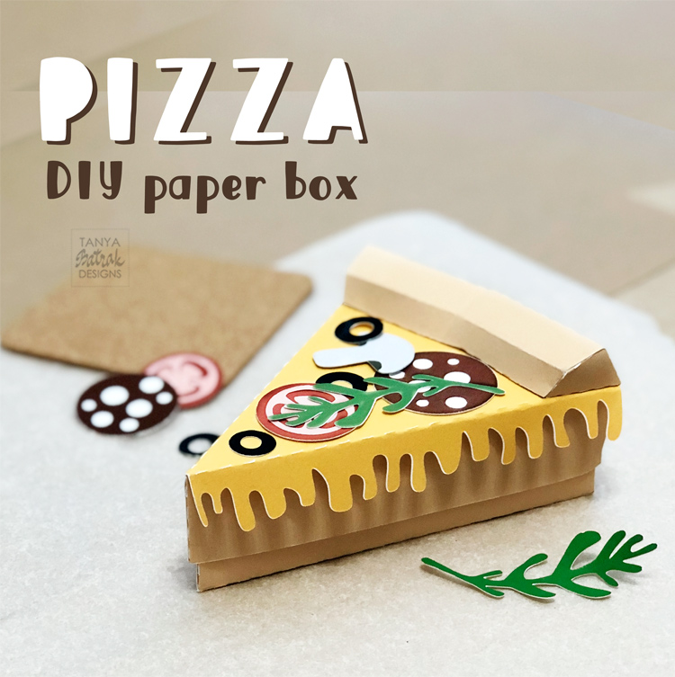 DIY Paper Pizza Slice Box