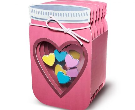 3D Mason Jar Box Card for Valentine's Day