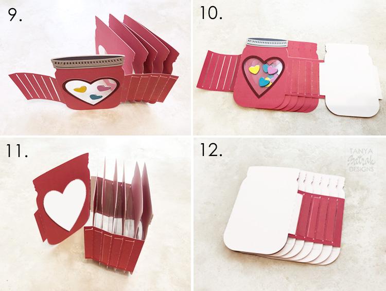 D Mason Jar Box Card for Valentine s Day