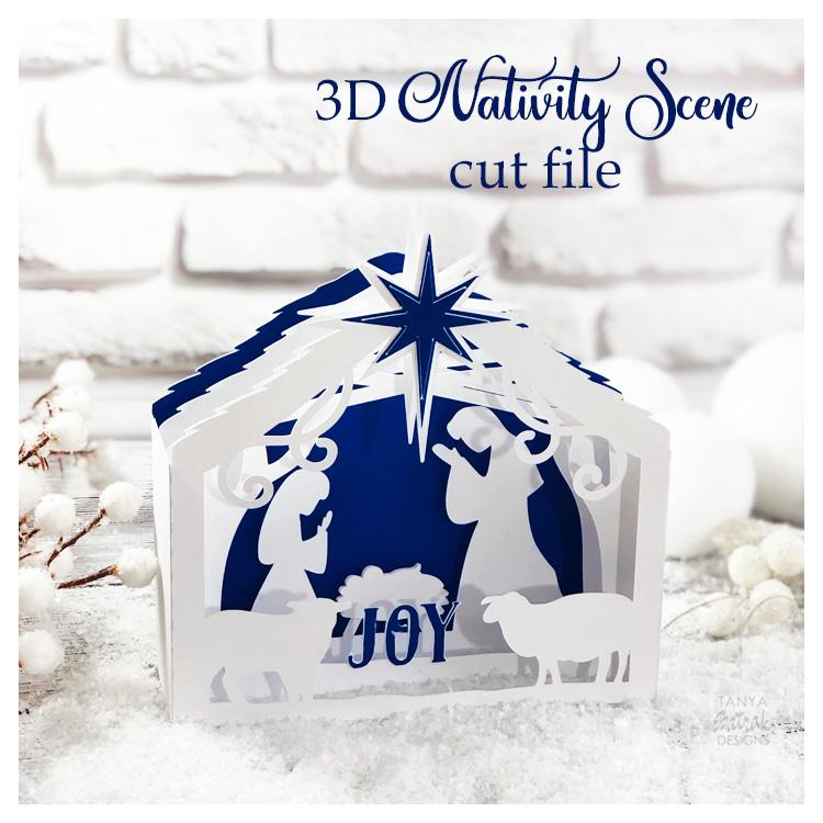 3D Nativity Scene