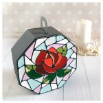 DIY Gift Box with Stained Glass Rose