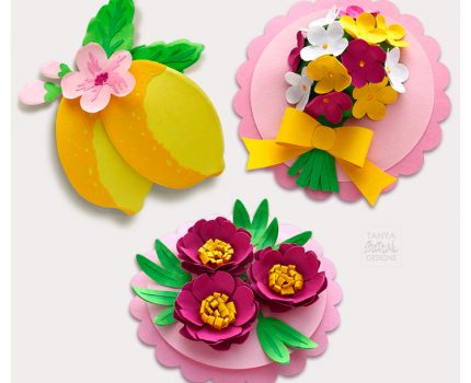 3D Flower Cards Cut Files