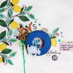 Scrapbook Layout with Paper Iris Shutter