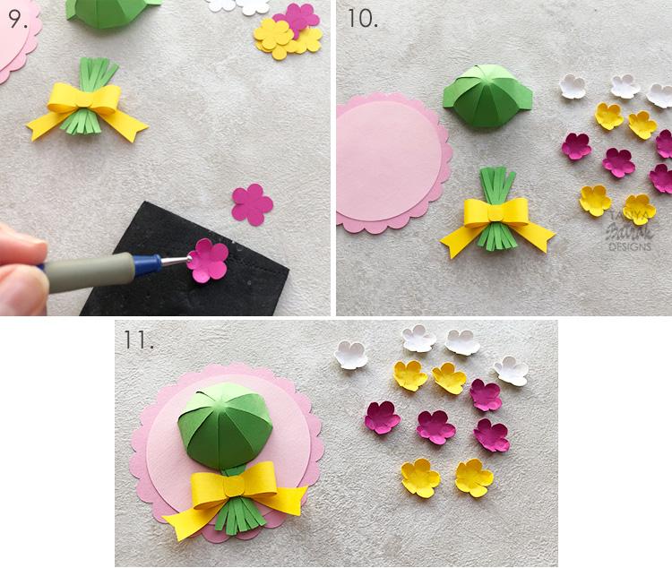 D Flower Cards Cut Files