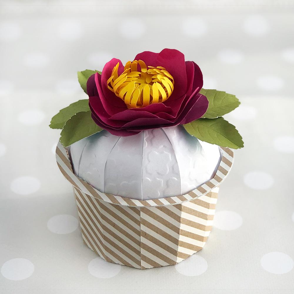 Cupcake Gift Box Cut File