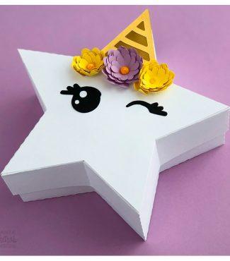 Cute Unicorn Star Gift Box