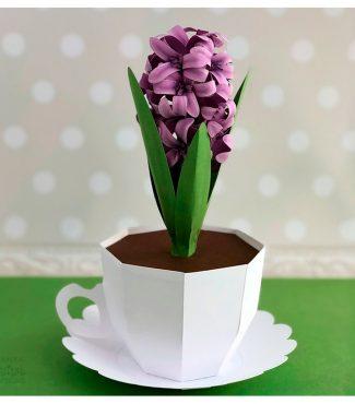 DIY Paper Hyacinth in a Paper Cup