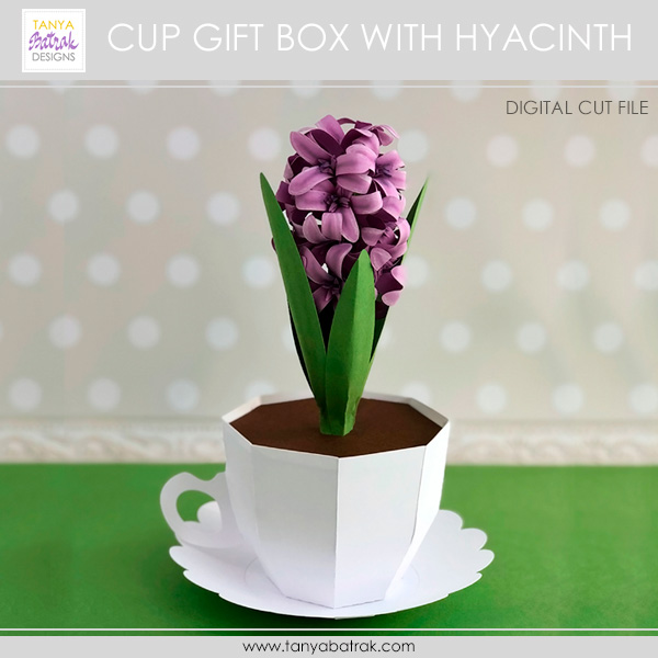DIY Paper Hyacinth in a Paper Cup