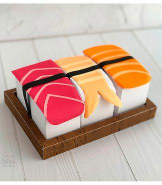 DIY Paper Sushi Box Set