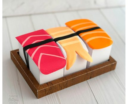 DIY Paper Sushi Box Set