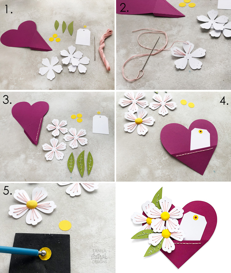 Hand Stitched Elements for Cards and Scrapbook Layouts