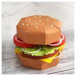 3D Paper Cheeseburger Cut File