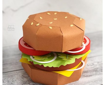 3D Paper Cheeseburger Cut File