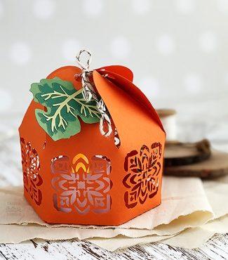 Adorable Paper Pumpkin Lantern Cut File