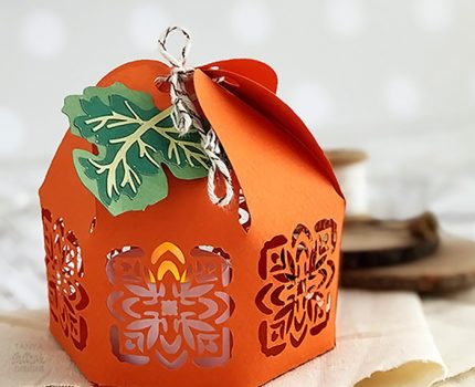 Adorable Paper Pumpkin Lantern Cut File