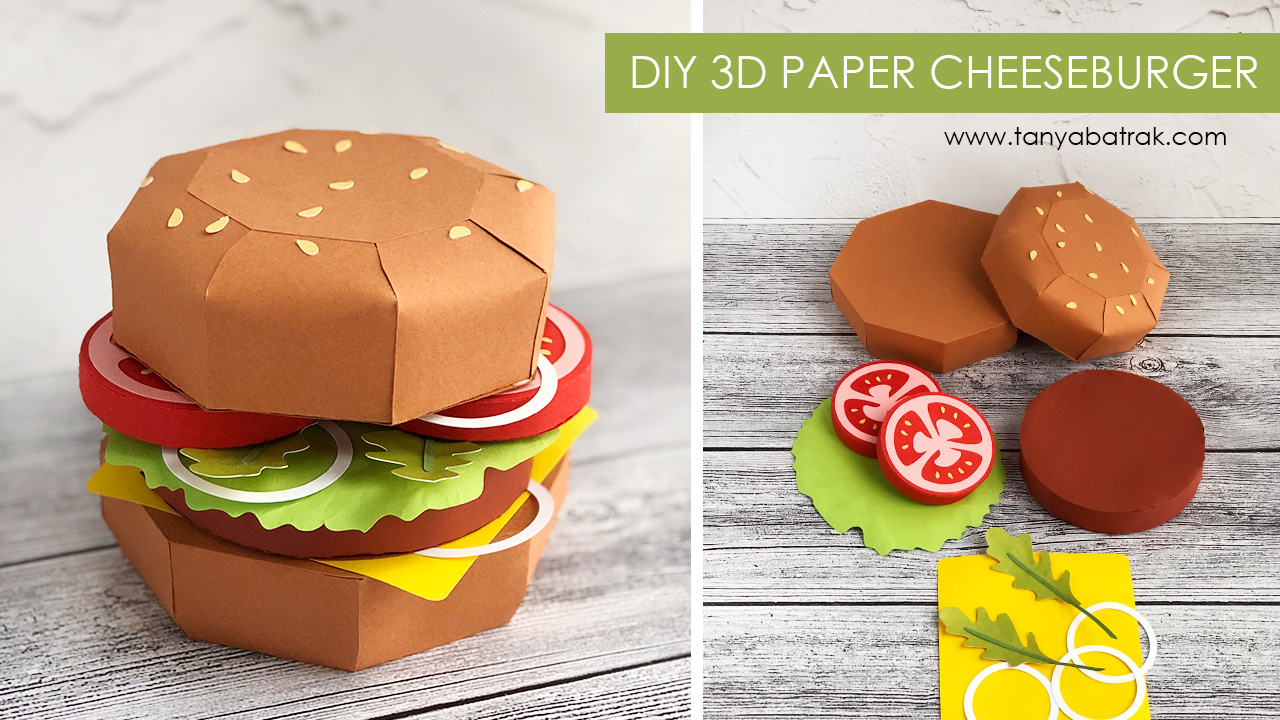 DIY 3D Paper Cheeseburger