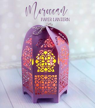 Detailed Paper Moroccan Lantern Cutting File