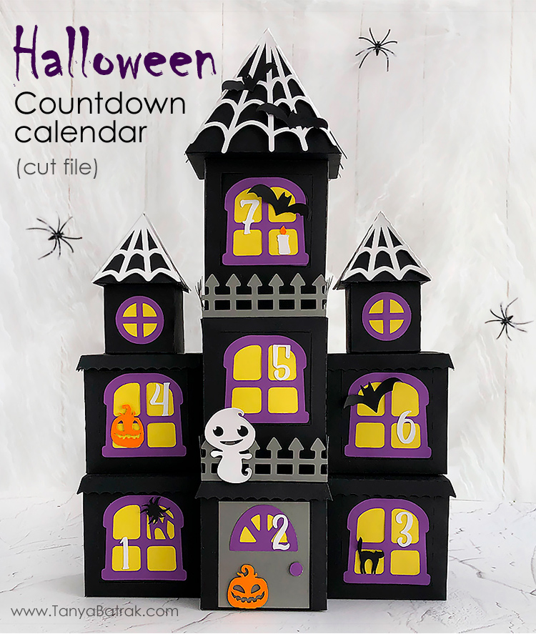 DIY Halloween Countdown Calendar Haunted Mansion